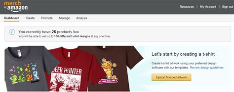 amazon merch create your own t shirt business kicking off r