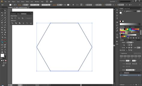 draw hexagon illustrator adobe illustrator how to create perfect geometric