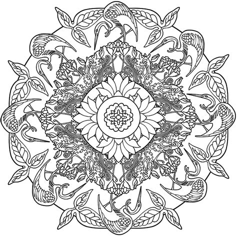 nature mandalas coloring book free printable coloring pages
