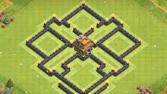 Clash of clans best town hall 7 trophy pushing war base design th7