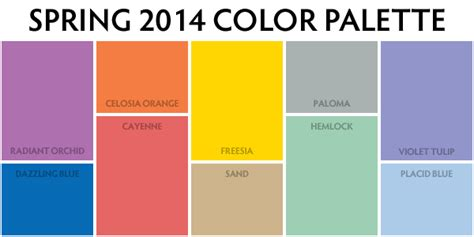 colors of spring spring 2014 colour palette weddings