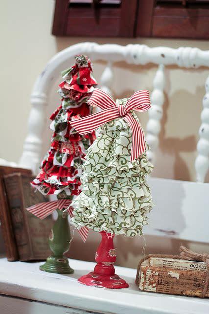 nice christmas trees nice diy ruffled christmas trees