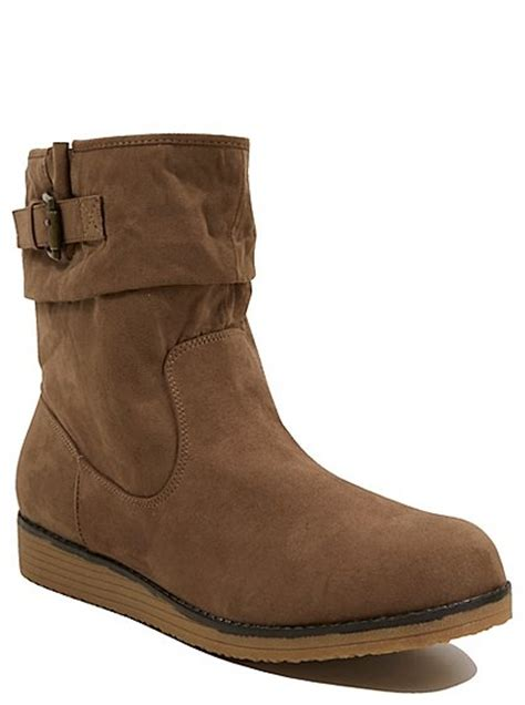 faux suede ankle boots george at asda