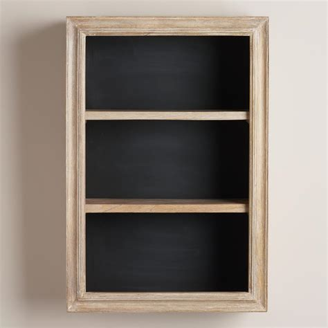 Chalkboard Wall Shelf by Cabin Chalkboard 2 Shelf Cabinet World Market