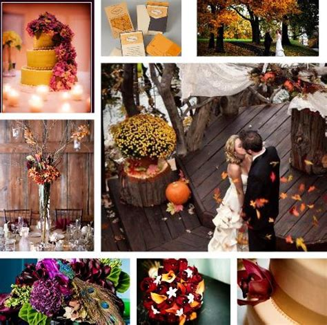 wedding colour themes autumn perfect fall wedding color palette ideas 2014 trends