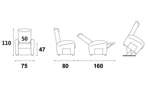 misure poltrona misure poltrona dimensioni poltrona reclinabile with