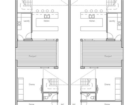 narrow lot duplex plans narrow lot duplex home plans home design and style