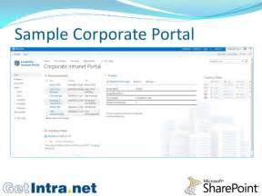 intranet portal template corporate intranet portal
