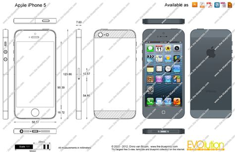 dwg format iphone the blueprints com vector drawing apple iphone 5