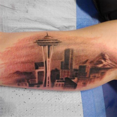 seattle skyline tattoo 1000 ideas about seattle skyline on