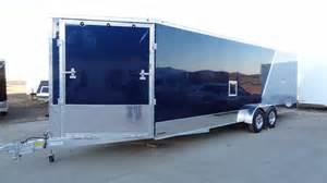 Custom Trailer Awnings 7 X 24 Aluminum Enclosed Snowmobile Trailer By Lightning