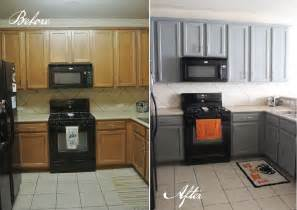 grey kitchen cabinets with black appliances kitchen before and after gusto grace