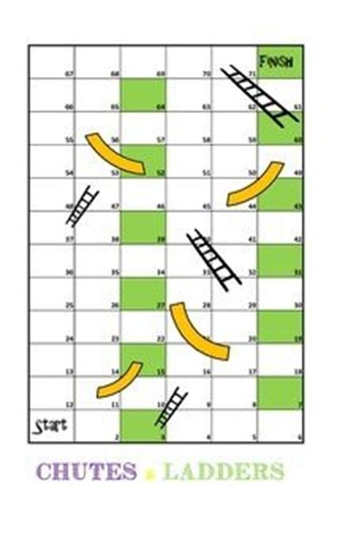 chutes and ladders template greatest common factors ladder and fractions on
