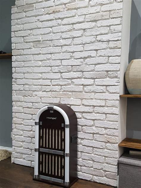 english aged white brick clad