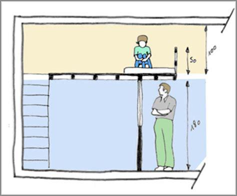 hauteur plafond minimum les r 232 gles d une mezzanine bien pens 233 e ce qu il faut
