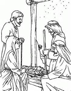 kerst kleurplaat bijbel