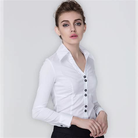 Womens Black Blouse With White Collar by Summer Siamese Blouse 2016 Turn Collar
