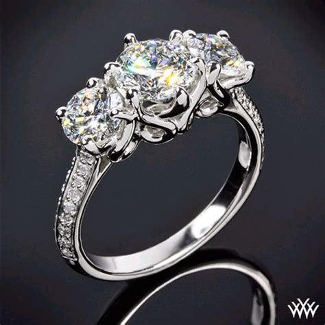 as graceful as a swan the swan 3 engagement ring