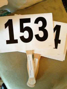 Charity Auction Trainwrecks On Pinterest Silent Auction Auction And Charity Auction Paddle Number Template