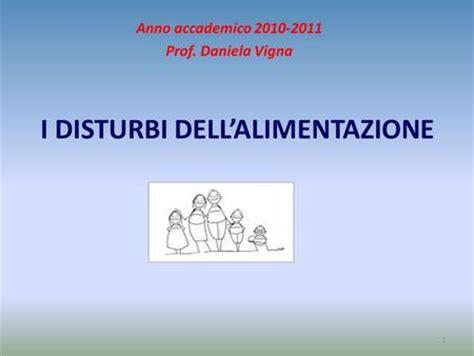 disturbi alimentazione la clinica dei disturbi alimentari nei bambini ppt