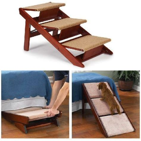 dog steps for beds pet studio pine frame dog r steps 3 step converts to