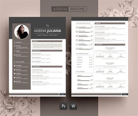 Modern Resume Template Julianna ~ Resume Templates