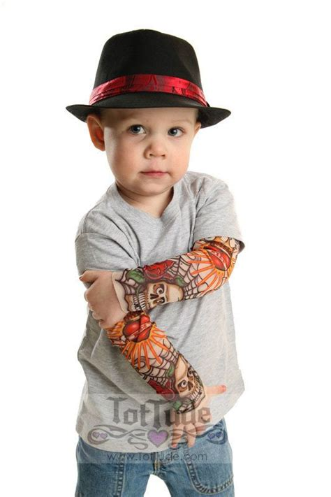 tattoo sleeve shirt sleeve gray t shirt for babies and toddlers t