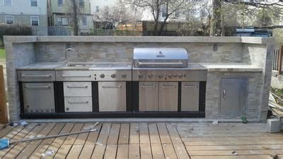 master forge 3 burner modular outdoor sink and side burners shop master forge 6 burner modular gas grill at lowes com
