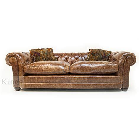 Tetrad Leather Sofa Tetrad Upholstery Norton Midi Chesterfield Sofa