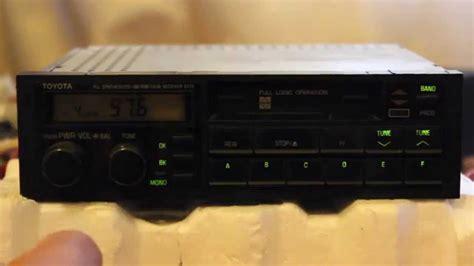 cassette car stereo toyota matsushita 6176 tuner cassette player car