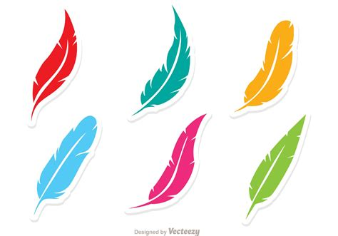 free clipart vector vector set of colorful feathers free vector