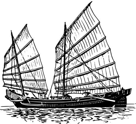 junk boat drawing junk ship clip art at clker vector clip art online