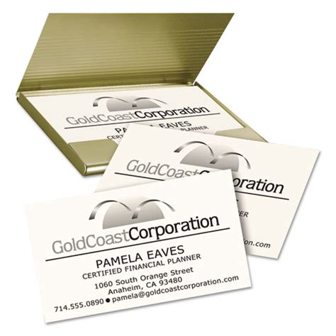 5882 Laser Clean Edge Business Card Template by Clean Edge Business Cards Laser 2 X 3 1 2 Ivory 200