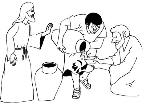 coloring pages jesus first miracle wedding at cana jesus changes water into wine king s