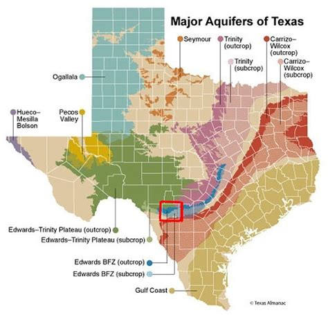 aquifers in texas map rivers wetlands precipitation aquifers
