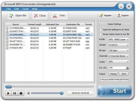 format audio download screenshot review downloads of shareware eviosoft mp3