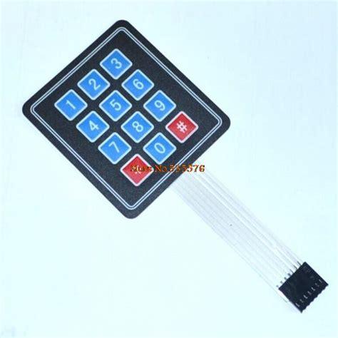 Keypad Membrane Matrix 12 10pcs new 12 key membrane switch keypad 4 x 3 matrix array