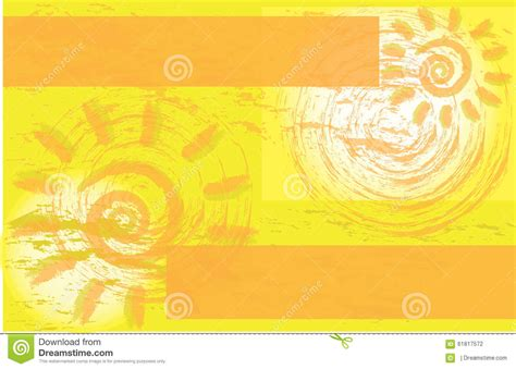 post card template event background yellow sun corporate event flyer brochure stock
