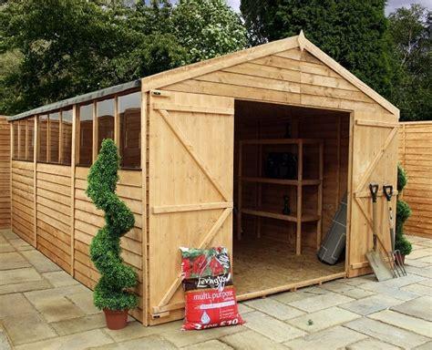 Wooden Workshops Garden Shed by Mercia 15x10 Overlap Apex Wooden Garden Shed Workshop