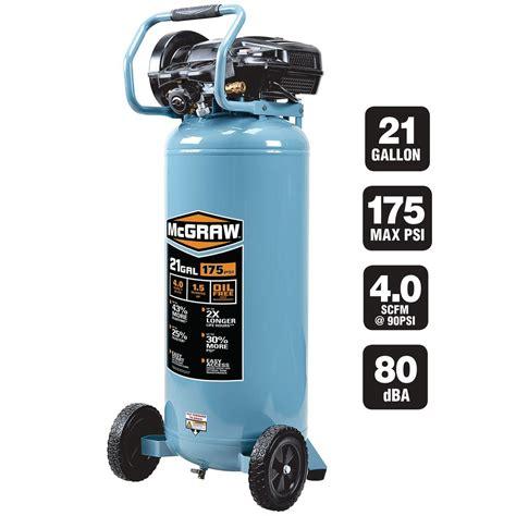 21 gallons 1 5 hp 175 psi free vertical air compressor