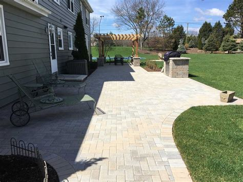 Custom Paver Patio Gallery Conrades Landscape Design Large Paver Patio