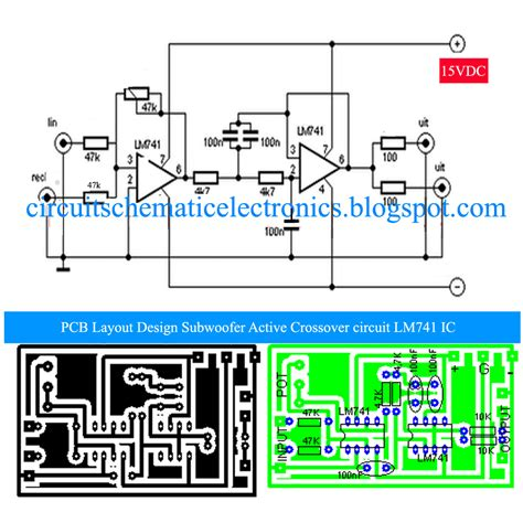subwoofer crossover circuit diagram subwoofer active crossover with lm741 ic electronic circuit