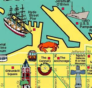 san francisco map fishermans wharf 17 best images about pictorial maps by carol mendel on san diego bay area and