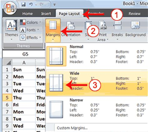 excel page layout problems margins do not fit page size in excel 2007 how to resize