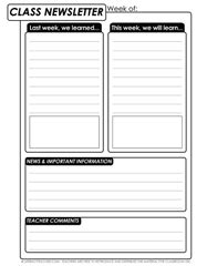 Writing Activity For Any Subject Class Newsletter Classroom Ideas Pinterest Class Physical Education Newsletter Template