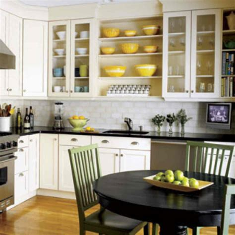 open cabinets kitchen ideas modern white kitchen island with round table under