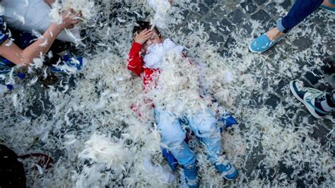 Another Word For Swung International Pillow Fight Day Images Stock Photos