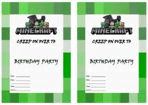 Minecraft Birthday Invitation ? gangcraft.net