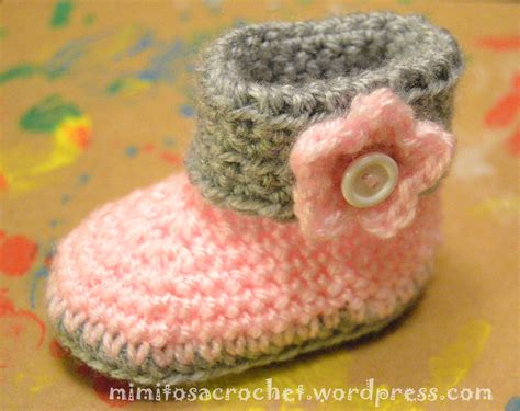 batitas en crochet y dos agujas para bebes 180 00 en mercadolibre botitas para beb 233 a crochet mimitos a crochet