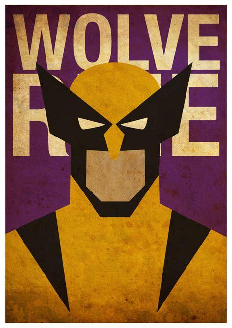 cool set  superhero minimalist posters sci fi design